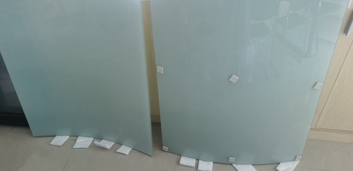5mm+5mm frosted laminated wave design curved glass