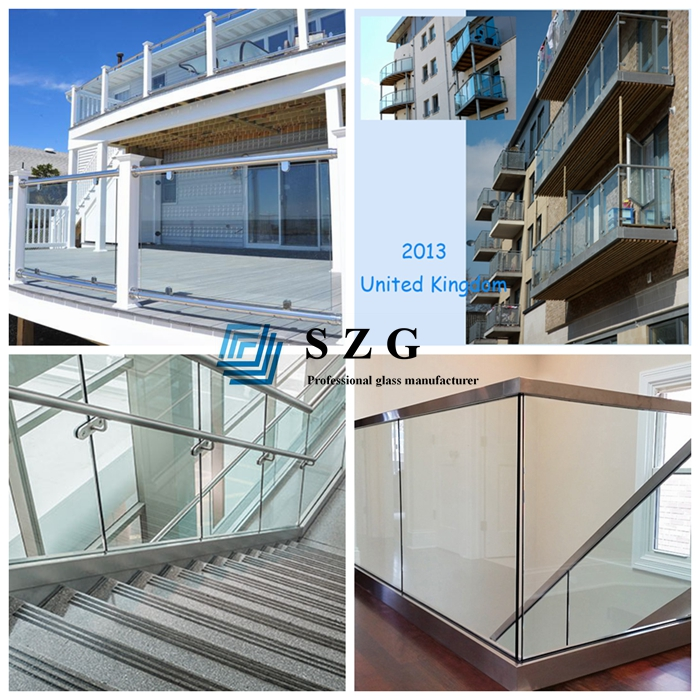 8.76 tempered laminated glass, balustrade glass manufacturer, sandwich glass, PVB laminated glass, 4mm+4mm laminated glass, glass handrail, safety glass