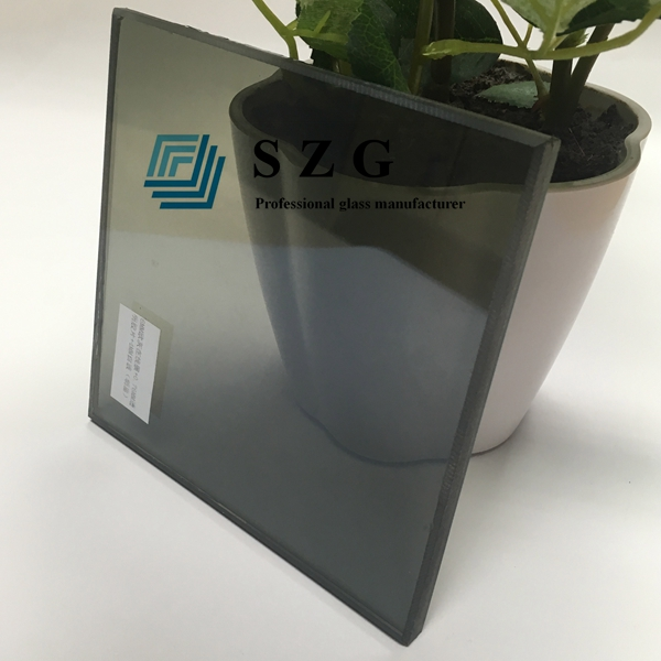 13.52mm light gray reflective laminated glass