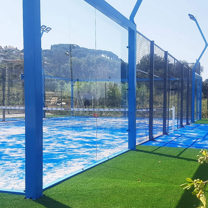 SGCC certified 12mm Platform tennis court Paddle court glass