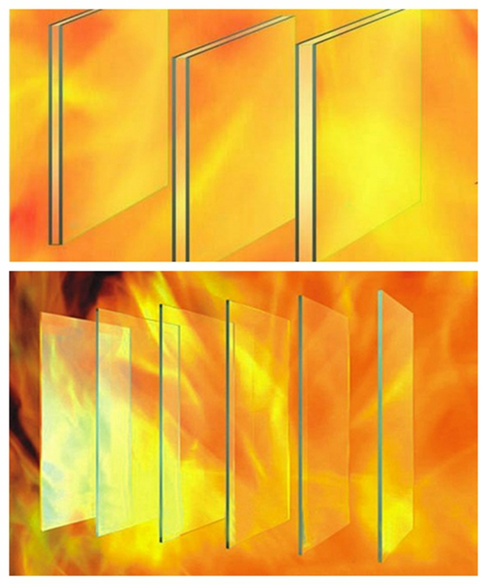 fireproof fire resistance glass fire rated glass