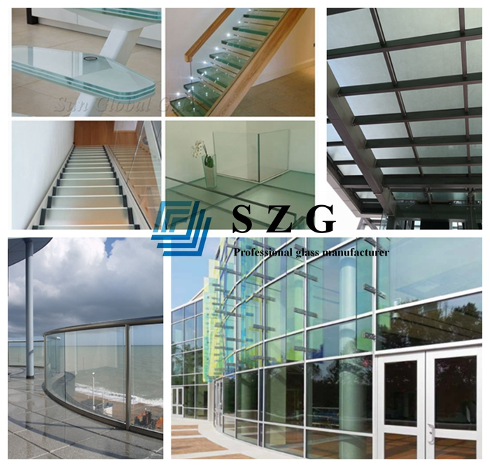 Safety glass, laminated glass 33.04mm, tempered laminated glass, 10+10+10 sandwich glass, PVB interlayer laminated glass, bullet proof laminated glass, 10mm+10mm+10mm laminated glass