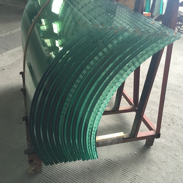 China 10mm curved tempered glass