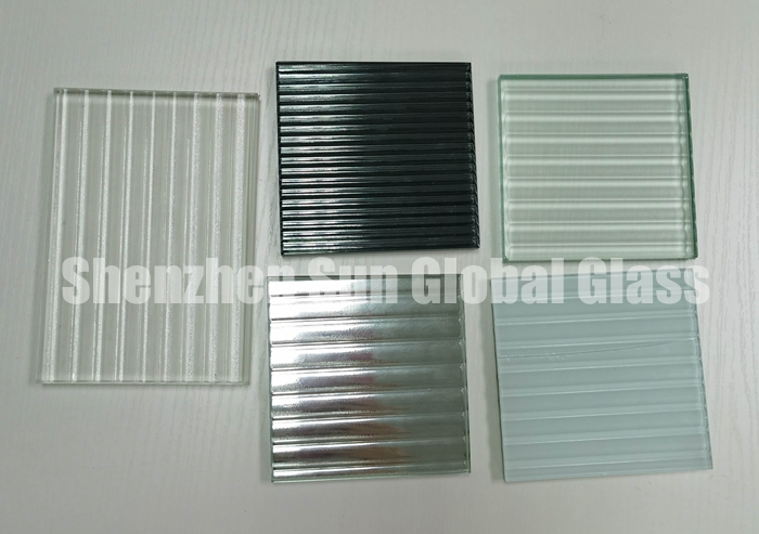 ribbed frosted lamination Glass