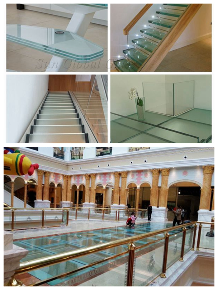 laminated glass floor, polylaminate tempered laminated glass, ultra clear laminated glass floor, anti slip glass, floor glass