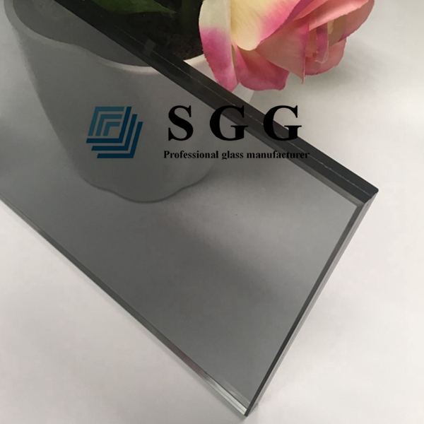 6mm+6mm light gray tempered glass, 12.76mm grey sandwich glass prices, 12.76mm laminated glass