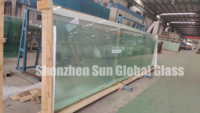 19mm tempered glass HS, 19mm heat soak glass, clear tempered HS glass, 19mm heat soaked glass price, jumbo size glass, super large glass