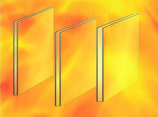 multilayer fire proof glass