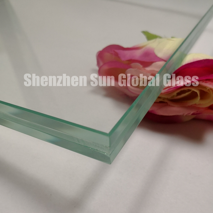 25.52mm low iron tempered laminated glass fins, 12+1.52 interlayer +12 ultra clear toughened laminated glass fins, 1212.4 extra clear ESG VSG for facade