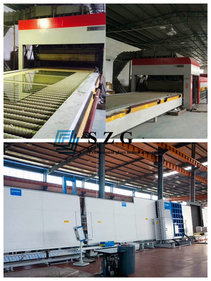 8mm+8mm light gray tempered insulated glass manufacturer, 28mm Euro grey double glazed glass, 8mm+12A+8mm gray ESG IGU