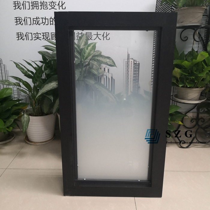6+6 gradient glass partition with frame, 66.4 gradient tempered laminated glass office partition, 13.52mm ESG VSG gradient glass for partition