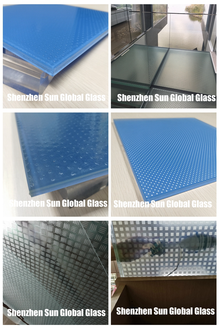 anti slip floor glass