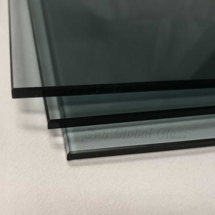 6mm crystal gray toughened glass