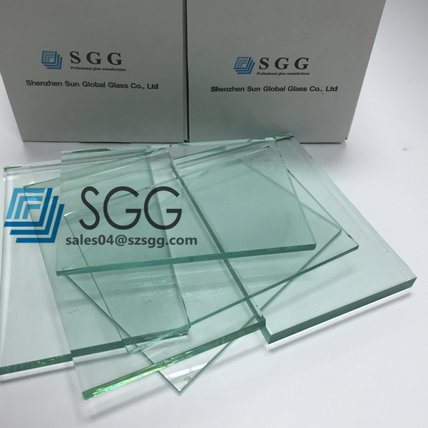 8mm clear float glass produced by SGG