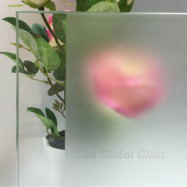 10mm acid etched glass
