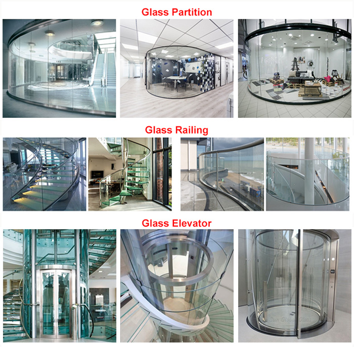 12mm curved glass