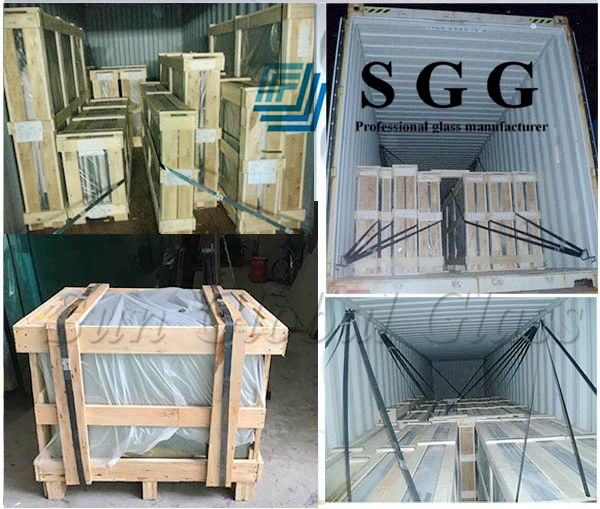 17.52mm PVB laminated glass China factory, 8mm+8mm double glazing, 8mm+8mm tempered sandwich glass, 8mm+8mm Euro grey laminsted tempered glass,