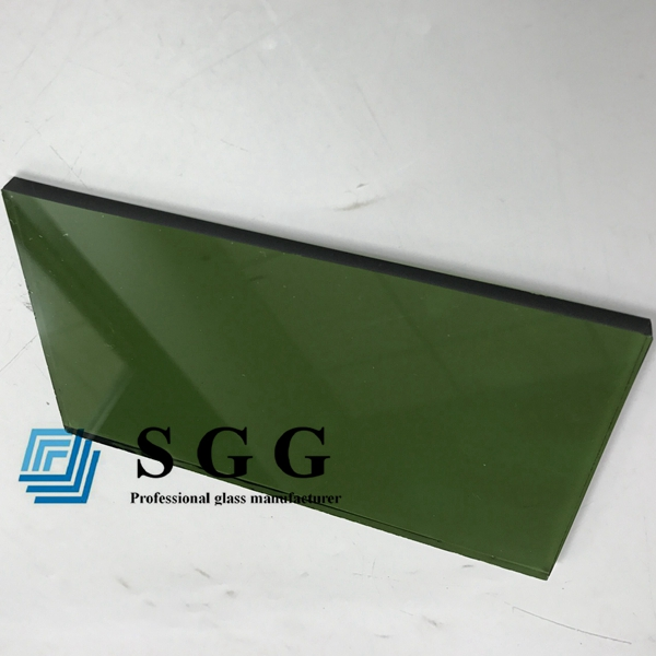4mm dark green reflective glass