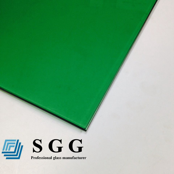 5mm dark green toughened glass
