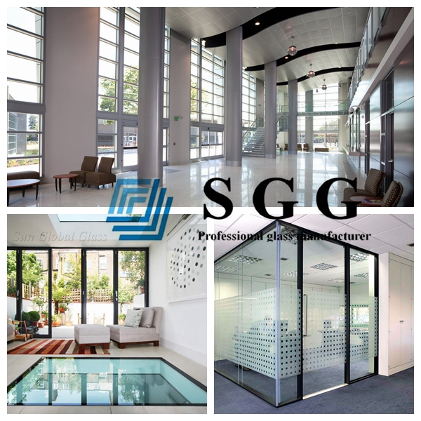 5mm+15A+5mm sound insulating glazing, sound insulation glass 5mm+5mm, 25mm argon hollow glass, insulated low E glass