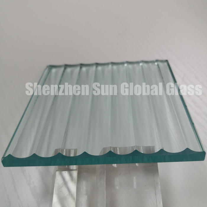8mm transparent toughened ribbed glass, 8mm tempered reeded glass, 8mm tempered fluted textured glass, fluted cast glass