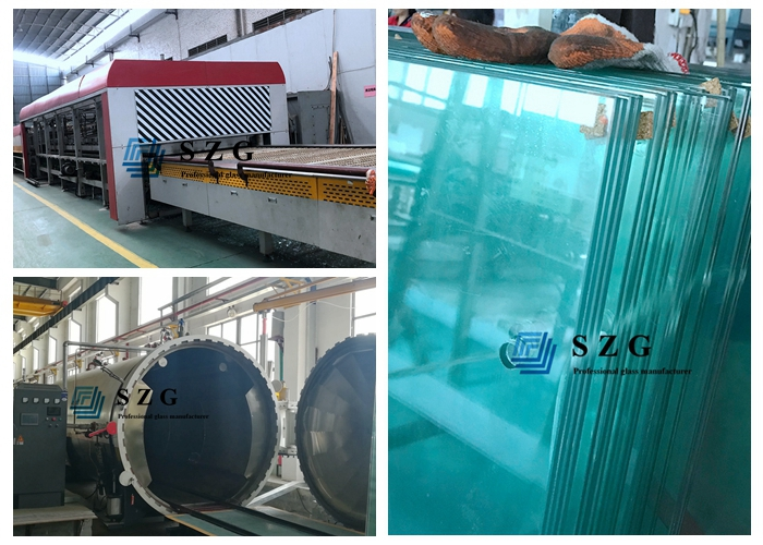 11.14mm heat strengthened laminated glass
