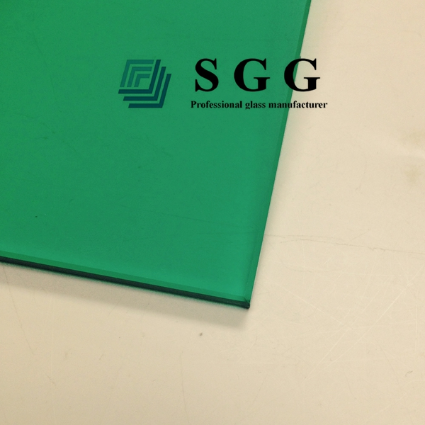 6mm dark green tempered glass manufacturer, 6mm green toughened glass prices, high quality dark green ESG 6mm