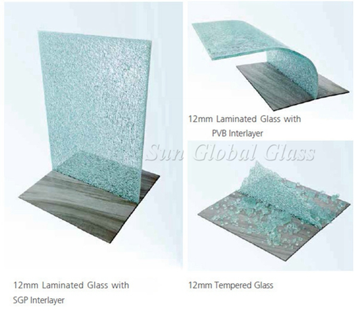 SGP sentry laminated glass, SGP clear laminated glass, transparent SGP laminated glass, 6+6 laminated glass, Saflex SOLUTIA SGP laminated glass, 6mm+6mm SGP interlayer sandwich glass, Hurricane glass