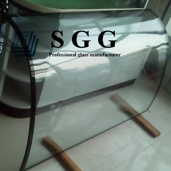 8mm+8mm curved glass, 15A argon spacer insulated glass, 8mm+8mm bent IGU, bend double glazing, 15mm spacer insulated curved glass, soundproof glass