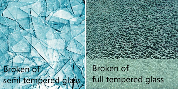 semi tempered glass and full tempered glass