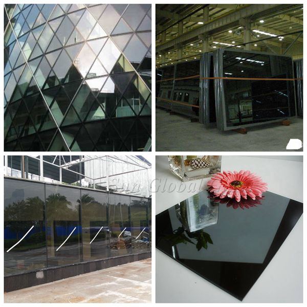 dark grey reflective glass application