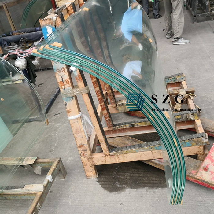 13.52mm low iron curved tempered laminated glass, 66.4 low iron curved glass, 6mm+6mm ultra clear curved ESG VSG