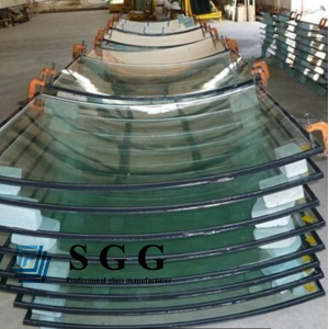 10mm+12A+10mm curved insulated  glass,10+10mm bent  insulated glass panel, 10 12 10mm double glazing glass