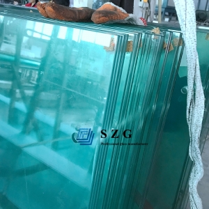 11.14mm heat strengthened laminated glass, 5+1.14+5 clear HS toughened laminated glass, 5.5.3 half tempered pvb film laminating glass factory