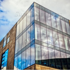 11.52 tempered laminated glass+12A+5mm tempered glass facade,toughened laminated insulated glass panel,554 VSG ESG+12A+5mm toughened glass IGU glass curtain wall