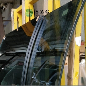 11.52mm Ford blue curved tempered laminated glass,554 blue bent toughened glass unit,11.52mm Ford blue curved safety glass