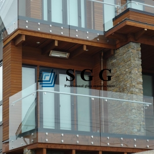 12mm Transparent Tempered Glass Railing, 12mm colorless safety tempered glass balustrade, 12mm clear safety toughened glass fence