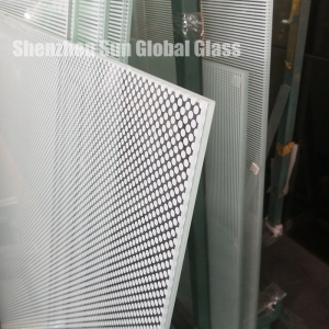 12mm clear HS painted graphite glass, 1/2 inch Frit printed glass,12mm Clear HS glass Polished edge