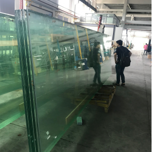 12mm ultra clear tempered glass+2.28mm PVB+8mm Low iron tempered glass,22.28mm Extra clear tempered laminated glass,1286 VSG ESG safety glass