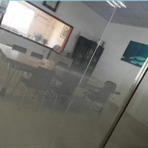 12mm white dot printed tempered glass design.12mm ultra clear gradient toughened glass partition,12mm low iron gradient tempered glass wall
