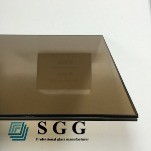 13.14mm Bronze toughened laminated glass,662 bronze toughened laminated glass,6mm+1.14mm PVB+6mm bronze VSG ESG glass