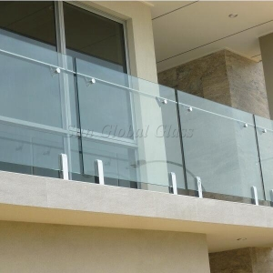 13.52 laminated toughened glass railing,664 ESG VSG glass balustrade,6mm+6mm double layer safety glass fence