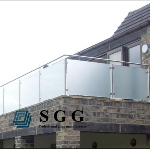 15 mm tempered glass balustrade, 5/8 inch  toughened glass railing, 15mm frameless toughened glass for railing.