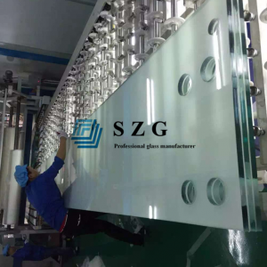 15mm+1.52 pvb+15mm+1.52 pvb+15mm ultra clear tempered laminated glass,48.04mm low iron toughened laminated glass, 45mm extra clear double pane glass