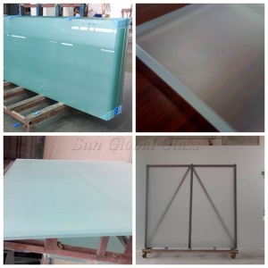 15mm Acid Etching Glass, 15mm Chemical Acid Glass, Translucent 15mm Acid Etched Glass