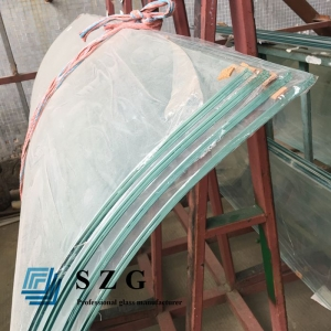 21.52mm super clear curved laminated glass,10.10.4 extra clear bent laminated glass,10mm+1.52mm ultra white bend laminated glass