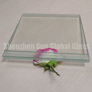 21.52mm ultra clear tempered laminated glass with stepped edge, 10+1.52 PVB+10 low iron tempered laminated glass price, stepped edge 1010.4 extra clear ESG VSG