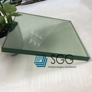 25.52mm HST Safety Tempered Laminated glass,12.12.4 heat soaked test toughened laminated glass, flat& curved 25.52mm heat soak tempered sandwich glass