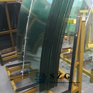 25.52mm curved toughened laminated glass,12124 bent laminated glass,12mm tempered +1.52mm pvb+12mm tempered laminated glass