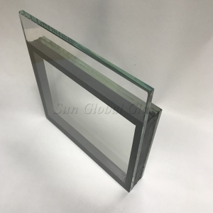 31.52mm HST SGP laminated insulated glass with Low E glass, (6mm HST glass+1.52mm SGP film+6mm HST glass)+12A+6mm Low E heat soaked tested Glass
